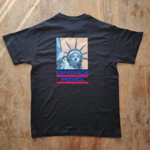 Supreme X TNF Statue of Liberty Black T-shirt